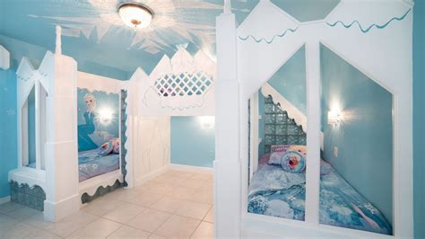 frozen theme rooms splashpad  theater kiddie pool