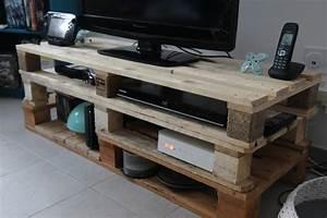 meuble tv en palette de bois mzaolcom With meubles en palettes de recuperation