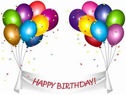 Birthday Happy Banner Transparent Clip Clipart Baloons