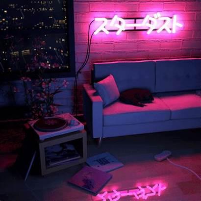 Bedroom Aesthetic Neon Vaporwave
