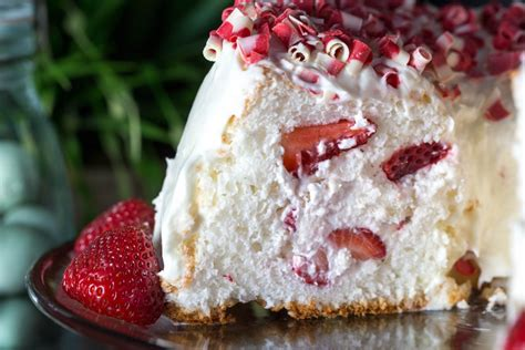 strawberry filled angel food cake recipe tgif