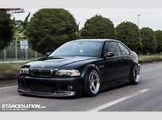 Slammed BMW E46 M3 on Rotiform Wheels Japan 1 Flush