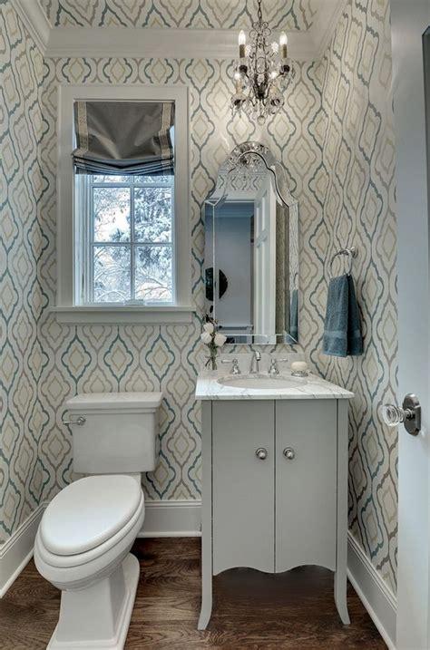 ideas  small bathroom wallpaper  pinterest