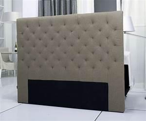 Tete Lit Capitonnée : tete de lit capitonnee king 140 160cm facon lin taupe ~ Premium-room.com Idées de Décoration