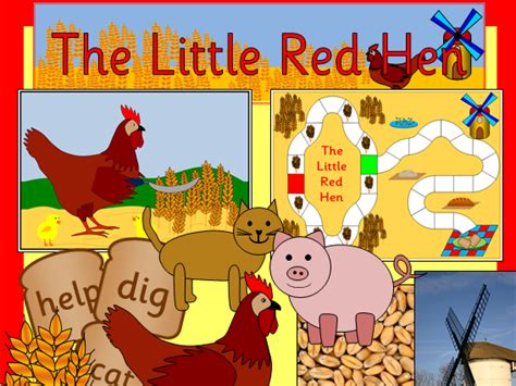 The Little Red Hen Story Resources- Activities, Powerpoint