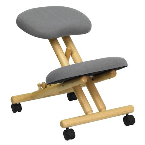 ergonomic kneeling desk chair flash furniture mobile wooden ergonomic kneeling chair in