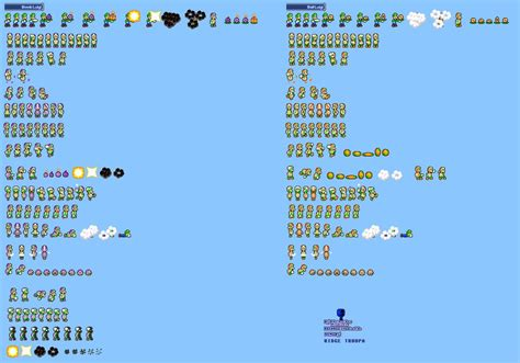 Mlss Bomb And Ball Luigi Sprites Sheet By Pxlcobit On