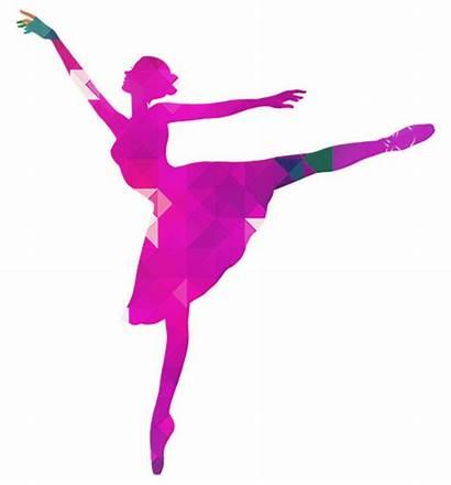 Silhouette Dancer Ballerina Ballet Vector Clipart Pink
