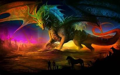 Fantasy Dragon Desktop Backgrounds Wallpapers Dragons Castles