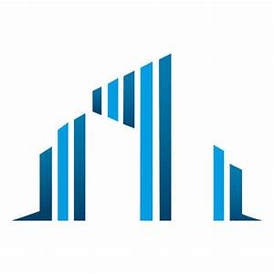 Blue bars buildings icon - Transparent PNG & SVG vector