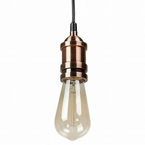 Lampe Suspension Industrielle : douille pour lampe suspension vintage industrielle eros en m tal cuivre ~ Dallasstarsshop.com Idées de Décoration
