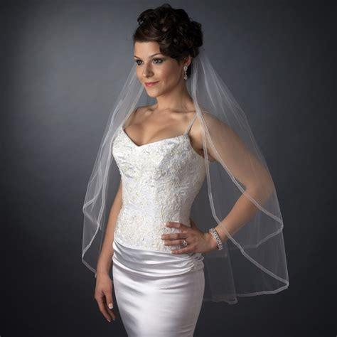 Organza Edge Double Layer Fingertip Wedding Veil
