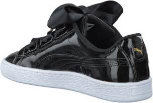 Heart Patent Puma Basket Sneakers