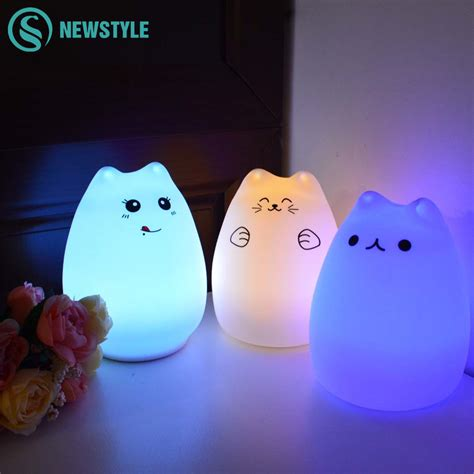 kids night light l silicone touch sensor led night light for children baby