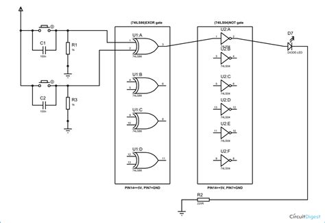 Xnor Gate Circuit Diagram Working Explanation