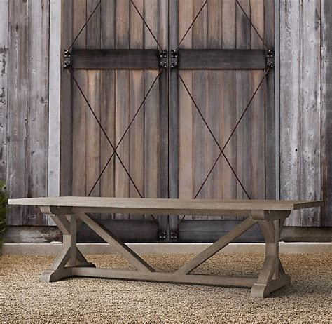 restoration hardware table broadview deck pinterest
