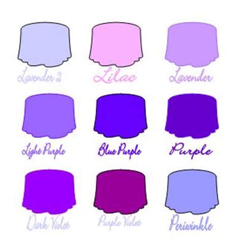 different color purples colors