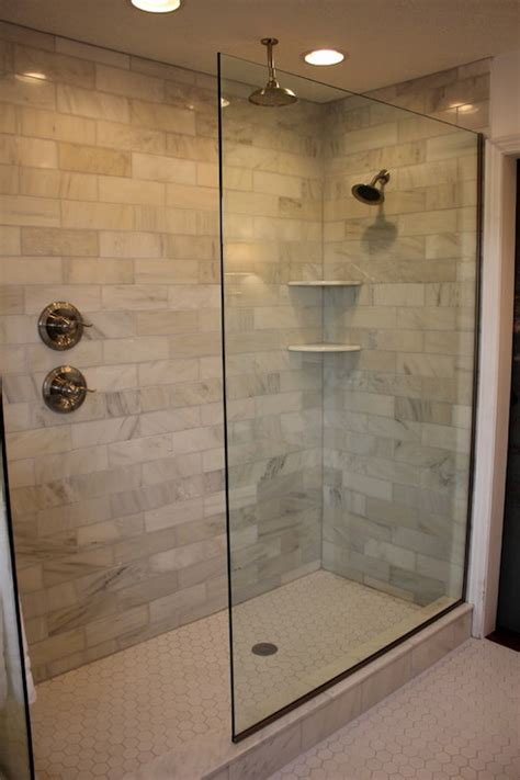 walk in bathroom shower ideas 30 ideas for subway tile in a shower