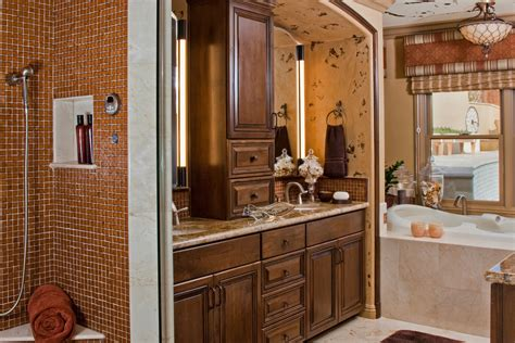 custom bathroom cabinets curved face sinks two level vessel sinks