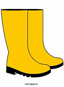 Rain Boot Coloring Page | Murderthestout
