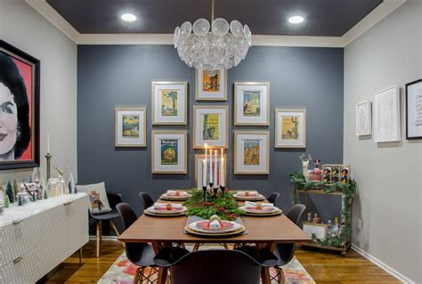Modern Glam meets Mid Century Christmas Dining Room