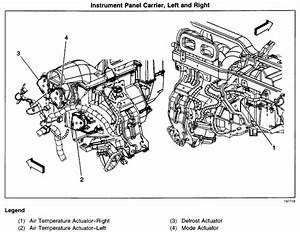 Where Is The Ac Actuator Located On A 2002 Chevy Trailblazer  I Ve Tried Taking Off The