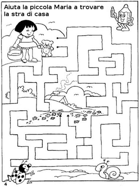 giochi di logica per bambini di 5 anni da stare passatempi per bambini i labirinti