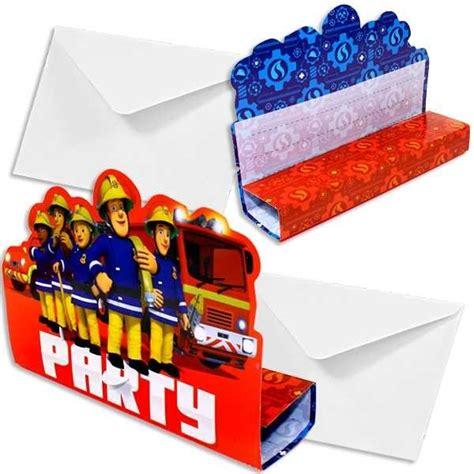 feuerwehrmann sam einladungskarten einladungskarten feuerwehrmann sam jetzt bestellen geburtstagsdeko