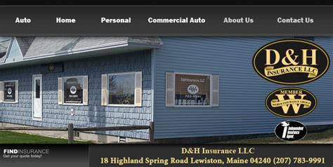 homeowners insurance maine d h insurance lewiston me home insurance auto insurance maine commercial d h insurance