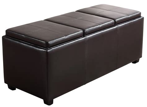 Storage Ottoman by Simpli Home Avalon Collection Rectangular