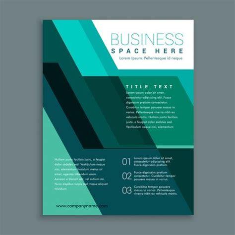 geometric business brochure design  turquoise color