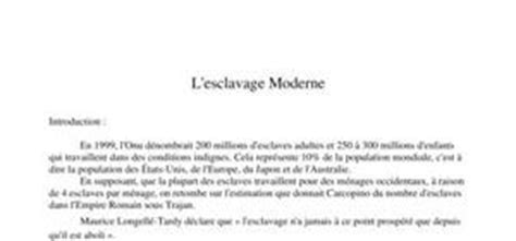 exemple d esclavage moderne l esclavage moderne probl 232 me actuel digischool documents