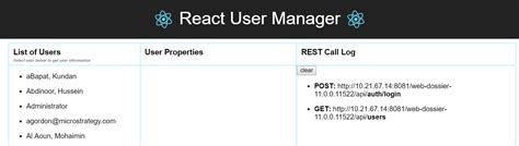 user react sample properties manager specific display under