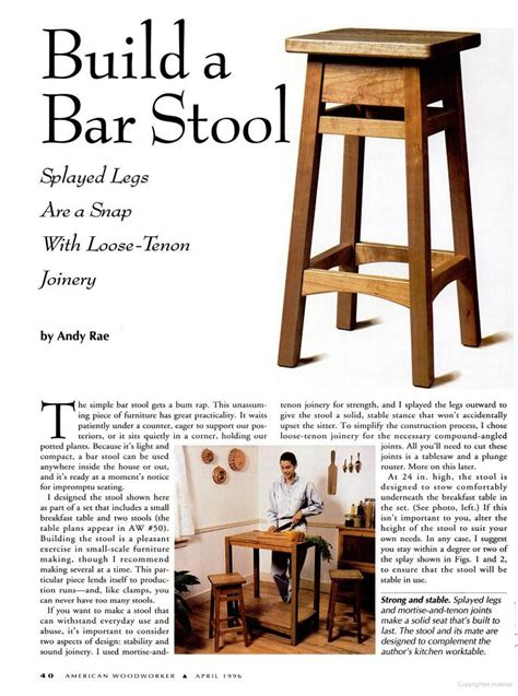 bar stool plans woodwork city  woodworking plans