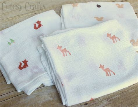 Diy Stamped Muslin Swaddling Blankets Tied Polar Fleece Blanket Instructions Horse Diy Baby Crochet When Can A Child Start Sleeping With Sewing Patterns How To End Double Lovey Pattern Argos Heated