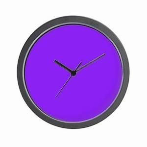 Neon Purple Solid Color Wall Clock by Admin CP