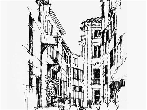city street pencil sketch android wallpapers