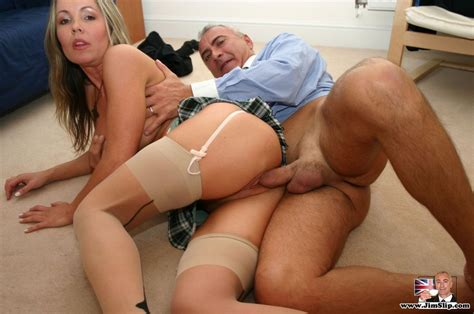 Young And Old British Senior Giving Some Xxx Dessert