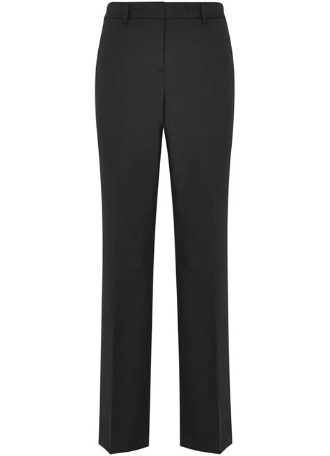 austin reed womens black classic suit trousers wool size