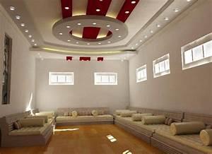 faux plafond platre 2015 design salon moderne plafond platre With decoration salon avec platre