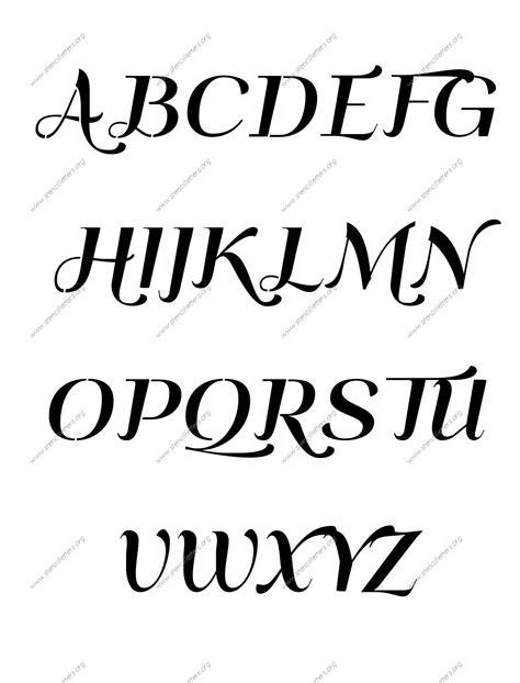 art deco italic number stencils    stencil letters org