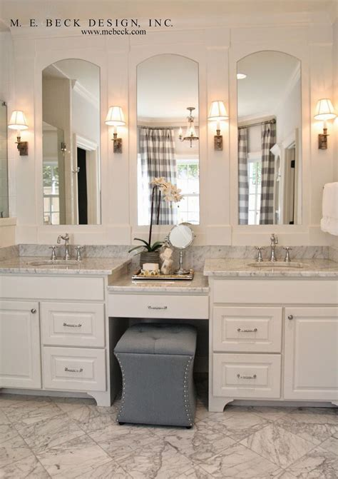 Bathroom Vanities With Matching Makeup Area by Best 25 Bathroom Makeup Vanities Ideas On
