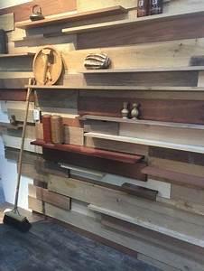 etageres en lames de parquet de bois idees recup With parquet recup