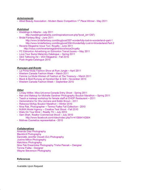 Resume Writing Exles For Makeup Artists by Makeup Artist Resumes Sles Www Proteckmachinery