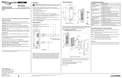 lutron homeworks qs wiring diagram  wiring diagram
