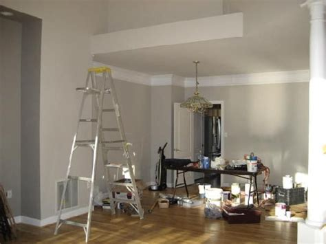 sherwin williams modern gray marina s colour looks beige and gray depending the light