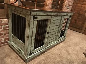 handcrafted dog kennel and dog crate custom dog kennel With wood and metal dog crate