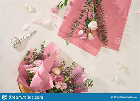Mothers Day Valentines Day Birthday Concept Making Pink