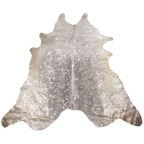 Cowhide Rug Silver by Collection Grey Silver Metallic Cowhide Rug