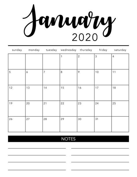 printable calendar template  colors